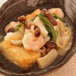 京豆腐の京野菜揚げだし