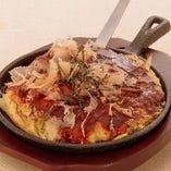 トマトと茄子のチーズ入りベタ焼き