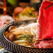 松阪牛のすき焼き 松コース ¥8,600(税込)