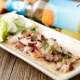 新鮮鮮魚でカルパッチョ