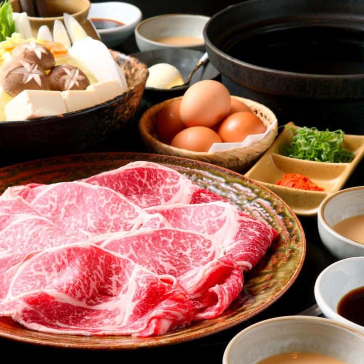 【食べ放題/黒毛和牛】『すき焼き食べ放題コース』|宴会 飲み会 女子会