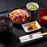 【ランチ】限定10食!牛ロースステーキ鉄板焼