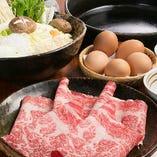 【食べ飲み放題/黒毛和牛】『プレミアムすき焼き宴会コース』