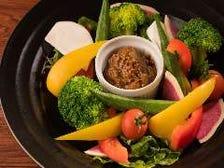 【地場野菜】肉味噌バーニャカウダ