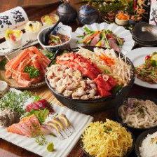 【鍋】選べる5種の鍋と贅沢ズワイ蟹 全9品+3H飲み放題『厳選ご宴会コース』 4500円