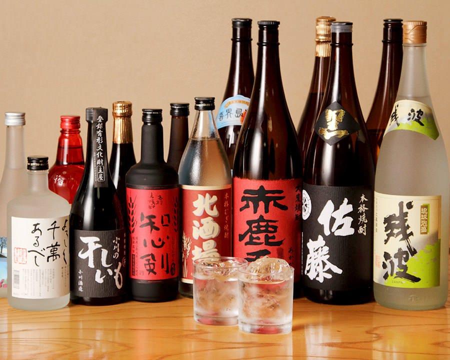 新鮮魚介と相性の良い銘酒の 数々、取り揃えております!