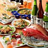 お料理おまかせ宴会コース、ご予算・人数に合わせて相談承ります。