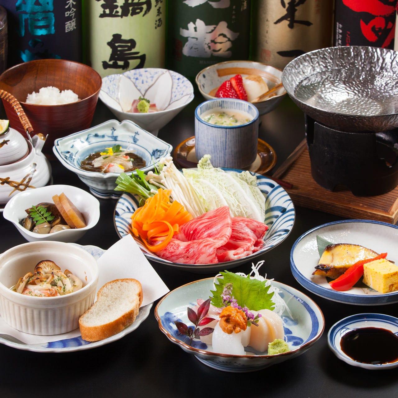 旬食材や佐賀牛を楽しむ贅を極めた宴