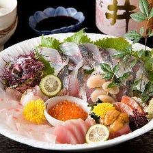料理長の目利きが光る季節の海の幸