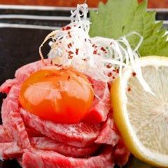 ■和牛レアステーキユッケ風