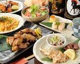 【鶏炭火焼コース3500円】総州古白鶏を絶妙な焼き加減でどうぞ