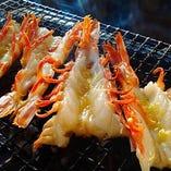 赤海老の炭火焼き