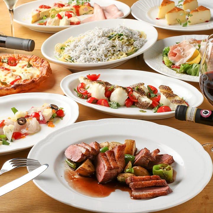 季節ごとに替わるパスタや前菜、名物パイッツァも勢揃い!