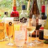 《飲み放題ドリンクの詳細》 スパークリングワイン、生ビールも飲める約25種