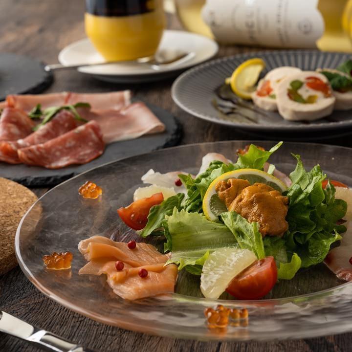 【プレミアムコース】 魚も肉も楽しみたい方へ♪2時間飲み放題付全9品 5000円