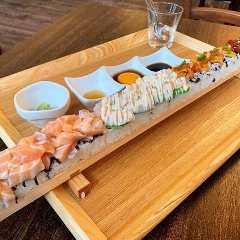 新鮮魚介のロング寿司