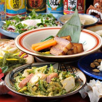 《豊富な種類の沖縄料理》