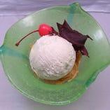 コース料理:ブルーシールアイス