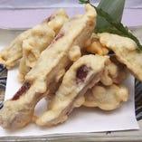紅芋の天ぷら