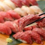 自慢の和牛肉寿司