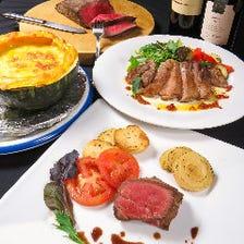 【豪華絢爛】チーズフォンデュ+肉料理!プレミアムラムコース全12品4200円。90分飲み放題付き5700円!
