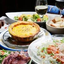 【おすすめ】カボチャのチーズフォンデュ&ステーキ!満足コース全10品3000円(90分飲放付4500円)