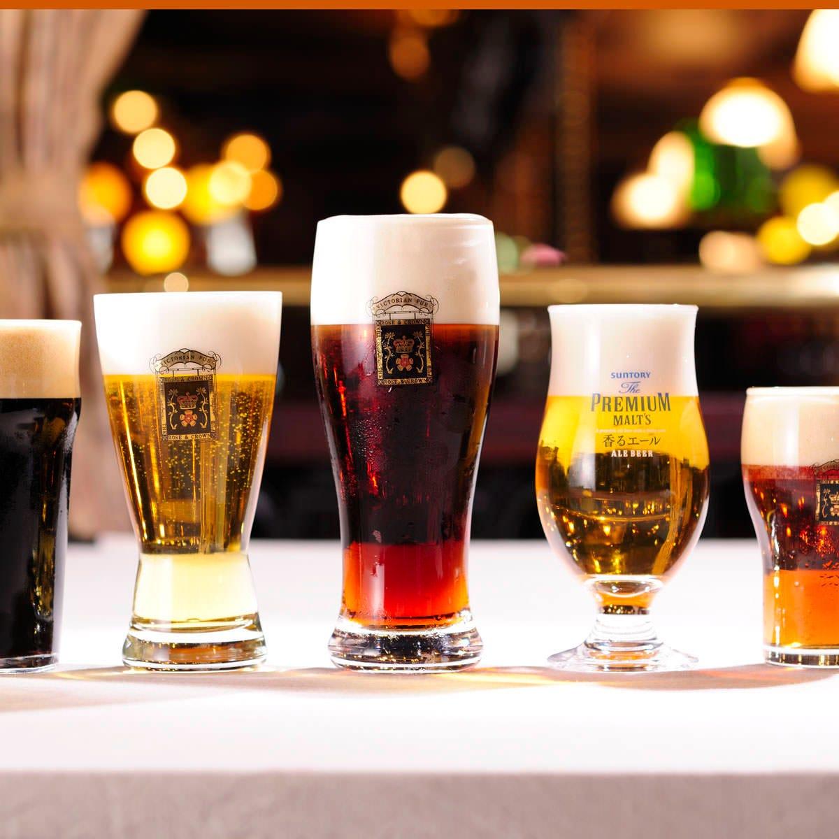 自慢の5種の生ビールがハッピー価格♪