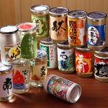 気軽に飲み比べできる地酒ワンカップ酒は、常時14種ご用意!