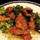 【6品目】鶏の唐揚・バンバンジーソース