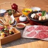 お昼のご接待や、食にこだわる大人の女子会にもご好評の「松阪牛 柿安御膳」