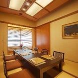 お座敷個室は4名様前後から、最大15名様までのご会食が可能です