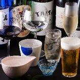 コースの飲み放題メニューは充実の内容でおもてなしのお席に最適
