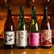 当店の唎酒師厳選の旬の日本酒をどうぞ。