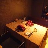 《お電話限定受付》テーブル個室【2~4名様】プライベート感あふれる落ち着いた空間