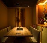 接待や会食に最適な静謐な雰囲気あふれる空間です。