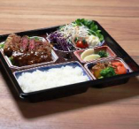 テイクアウト、ディナー限定の和牛ビフカツ御膳(お弁当)