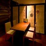 小人数様向けの個室は接待やデートに最適◎ 予約必須席!
