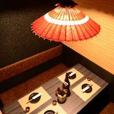 ◆寛ぎ充実の少人数個室完備◆