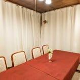 [個室]4名様迄:ゆったりテーブル席■通常10名、団体様は要相談■