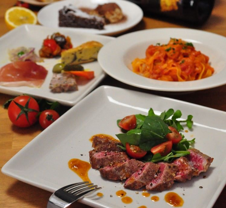 Trattria MERCATOの贅沢なディナーコース B 2.5H飲み放題付き 6,500円(税抜)
