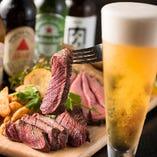 肉×ビールで乾杯!男性はもちろん、がっつり女子会にも◎