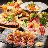 話題の肉寿司を楽しめるコースも。