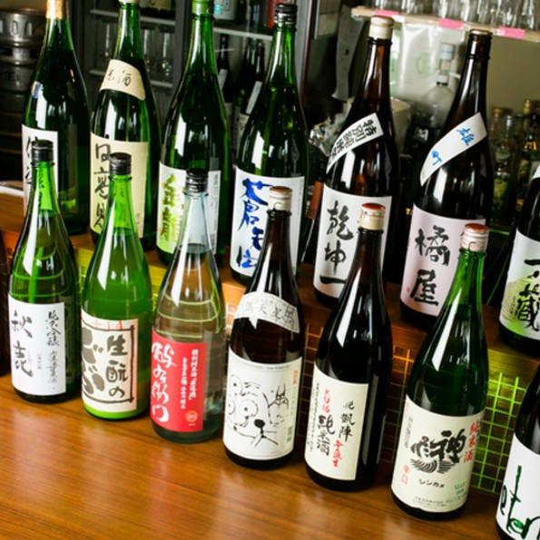 日本酒の銘柄が約40種類ございます。