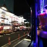 パーティーバスでの東京クルージングはお台場、銀座、渋谷なども