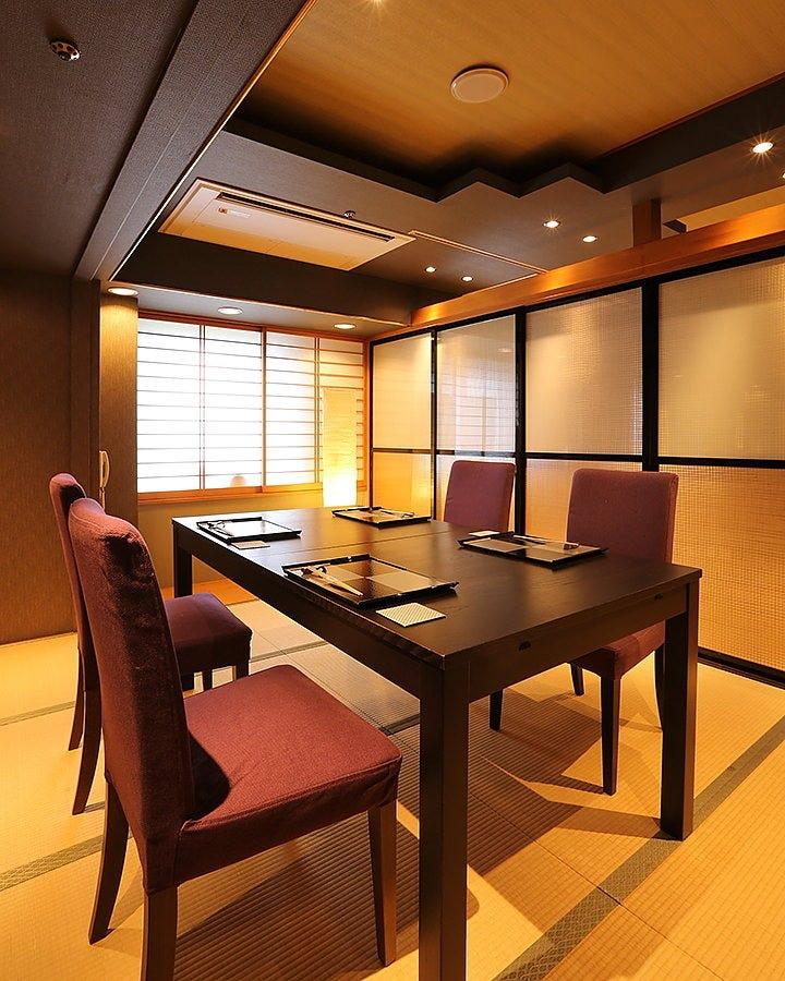 【個室も完備】落ち着いた和空間で旬の素材をお楽しみください