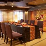 夫婦2人きりの記念日から60名様まで大小さまざまな個室をご用意
