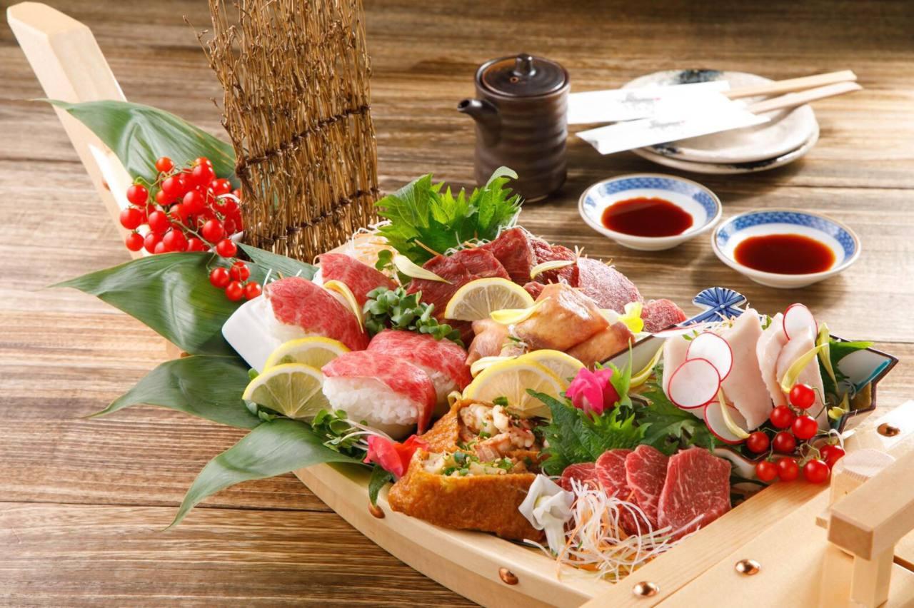【歓送迎会】全14品2h飲み放熟成牛ハラミステーキ+馬刺し5種盛り肉寿司堪能¥4500→¥4000