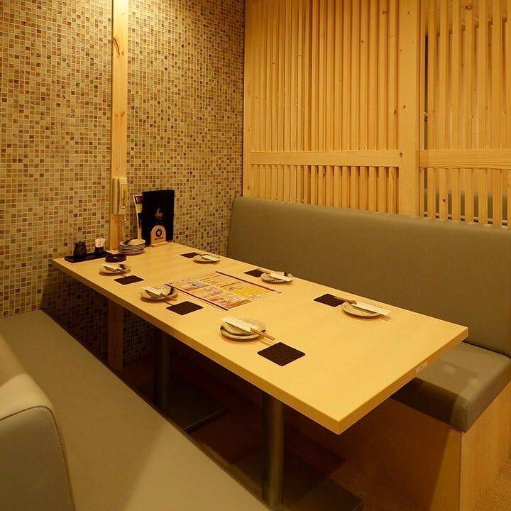 テーブル席・半個室・5名様~6名様