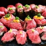 極上の創作肉寿司の数々!ご堪能ください!