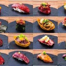 名物!創作肉寿司&肉刺しを食す!